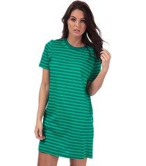 only june stripe dress size 12-14 in green