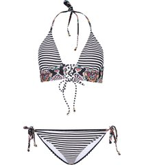 bikini a triangolo (set 2 pezzi) (nero) - rainbow