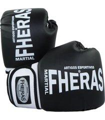 luva boxe muay thai fheras new orion preto/branco .