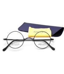 vintage 42mm mens round titanium eyeglass frames rx retro spectacles glasses