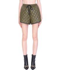self-portrait shorts in khaki polyester