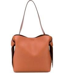 acne studios midi musubi shoulder bag - brown