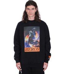 heron preston heron time t-shirt in black wool
