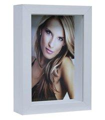 porta retrato caixa color 15x21cm branco