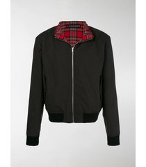 y/project plaid layer bomber jacket