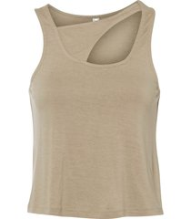 top con cut-out (beige) - rainbow