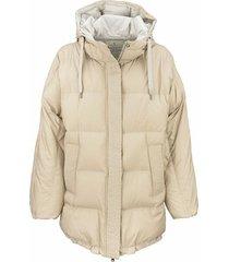 hooded water repellent down jacket