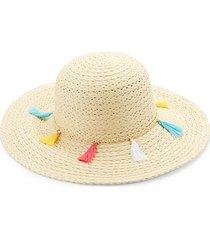 fringe straw hat