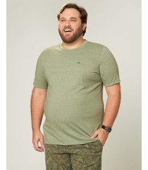 camiseta tradicional em moulinê wee! verde musgo - m