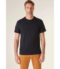 camiseta bolso pima reserva preto - preto - masculino - dafiti