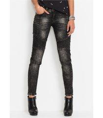 skinny jeans in bikerstijl