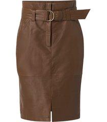 skinnkjol crleatherina skirt