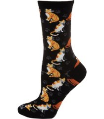 memoi cats and friend women's novelty socks