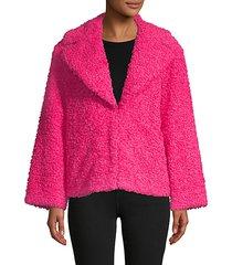 thora oversized faux fur jacket