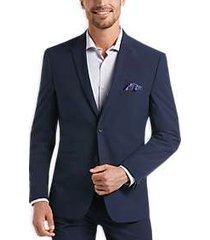 perry ellis premium navy blue very slim tech suit