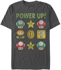 nintendo men's super mario power up short sleeve t-shirt