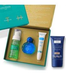 kit coffret anna pegova mini lth - limpador 50ml + tonico 40ml + hidratante 15ml + bb cream nude 0 - 30g