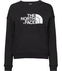 w drew peak crew-eu sweat-shirt trui zwart the north face