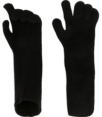 julius knitted fitted gloves - black