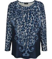 shirt m. collection marine::blauw::wit