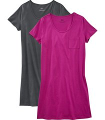 camicia da notte in cotone biologico (pacco da 2) (viola) - bpc bonprix collection