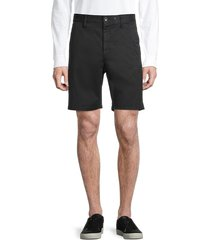 rag & bone men's stretch-cotton chino shorts - black - size 33