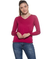 blusa basica passion tricot pink