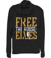 fifth sun harry potter dobby free the house-elves cowl neck juniors pullover fleece