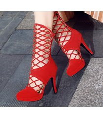 ps400 sweet caged booties, high heels, us size 2-10, red