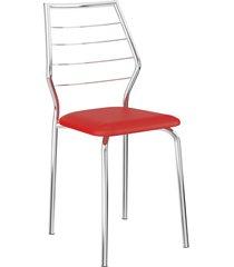 conjunto 2 cadeiras 1716 napa móveis carraro vermelho