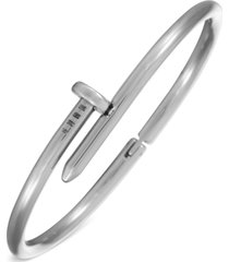 inc men's stainless steel nail cuff bracelet, created for macy's