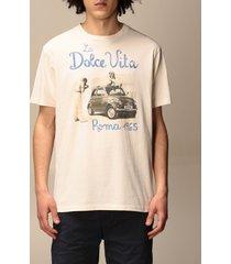 mc2 saint barth t-shirt mc2 saint barth t-shirt in cotton with roma dolce vita print
