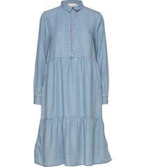 moira ls dress knälång klänning blå soft rebels