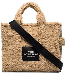 marc jacobs the traveller teddy tote bag - neutrals