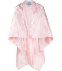 prada packable silk cape - pink