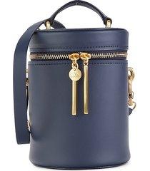 zac zac posen women's belay cylindrical leather bucket bag - parisian blue