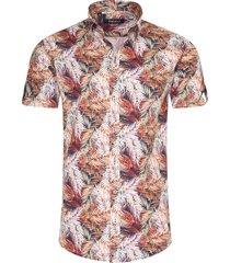 ferlucci heren korte mouw overhemd calabria tropical design -