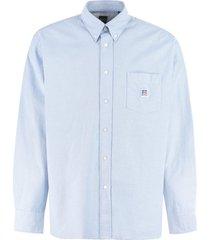 hugo boss boss x russell athletic - cotton button-down shirt