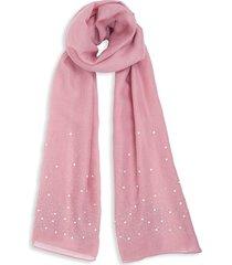 bindya women's faux pearl-embellished scarf - mauve