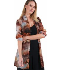 blusa estampada antonia terracota night concept
