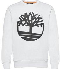 core logo crew bb sweat-shirt trui wit timberland