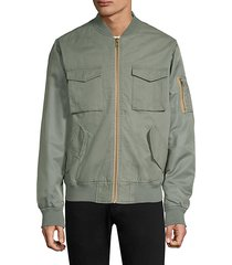 contrast two-tone bomber jacket