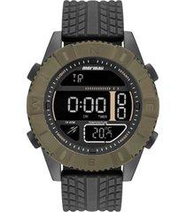 relógio mormaii mo5334ab/8v 51mm silicone preto