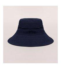 chapéu de praia feminino com laço em sarja azul marinho