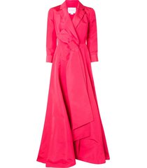 carolina herrera a-line trench gown dress - pink