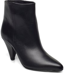 myrassa boot low 7556 shoes boots ankle boots ankle boot - heel svart samsøe samsøe