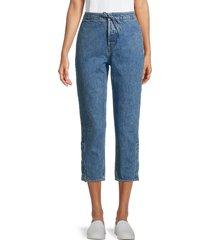 rta women's matisse straight-leg ankle jeans - blue - size m