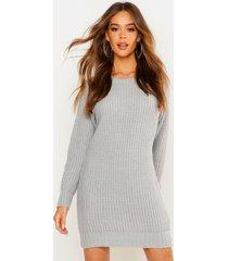 soft knit sweater dress, silver
