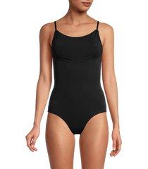 hue women's seamless shaping bodysuit - ballet - size xl