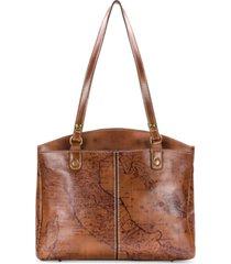 patricia nash poppy map print leather satchel